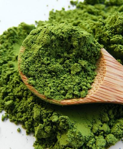 Matcha, groene thee-poeder