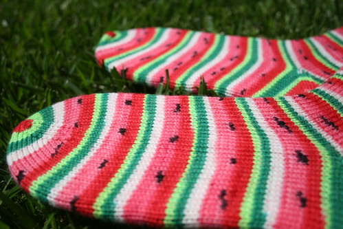Finished Watermelon Socks 2