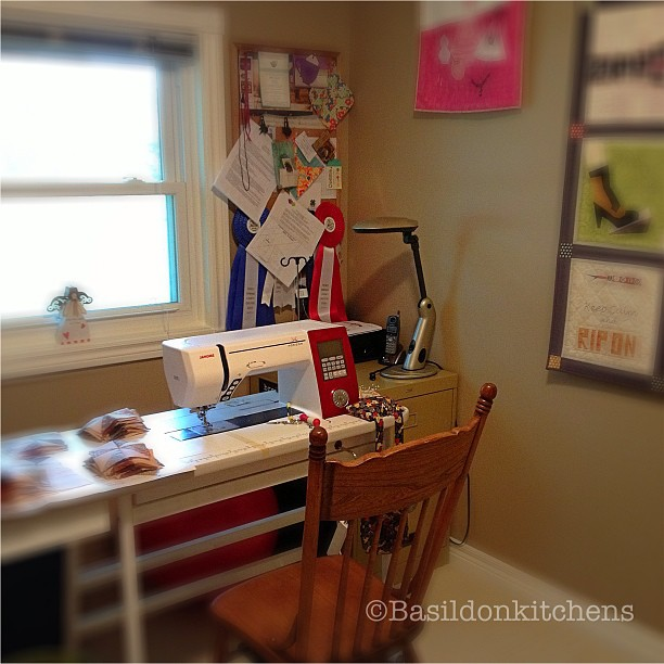 July 31 - workspace {the sewing/quilting room} I love it! #fmsphotoaday #workspace #sewing #quilting #janome