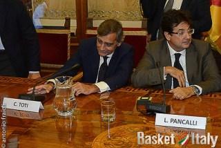 Claudio Toti L. Pancali  Presentazione Virtus Roma Basket 2013/14