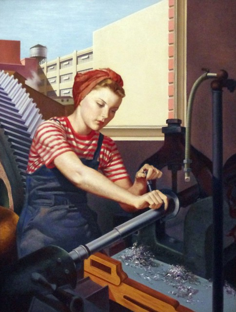 Day Shift by Francis Criss, British, 1943 - Crystal Bridges Museum of American Art - Bentonville, Arkansas