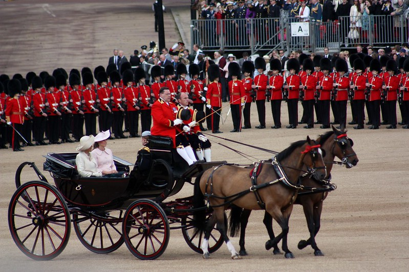 Trooping Kate, Camilla, Harry