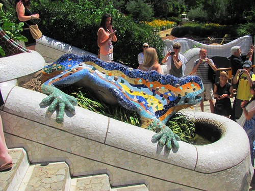 Barcelona, Spain Park Guell Lizard