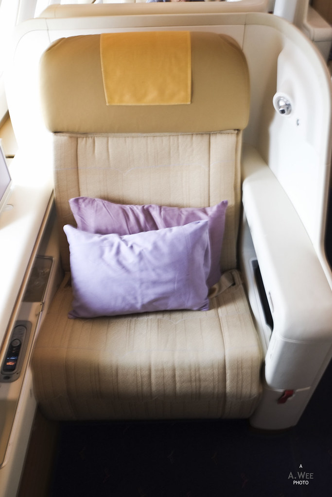 First Class Seat onboard Thai