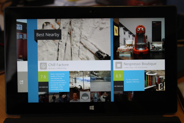 FourSquare on a Surface RT