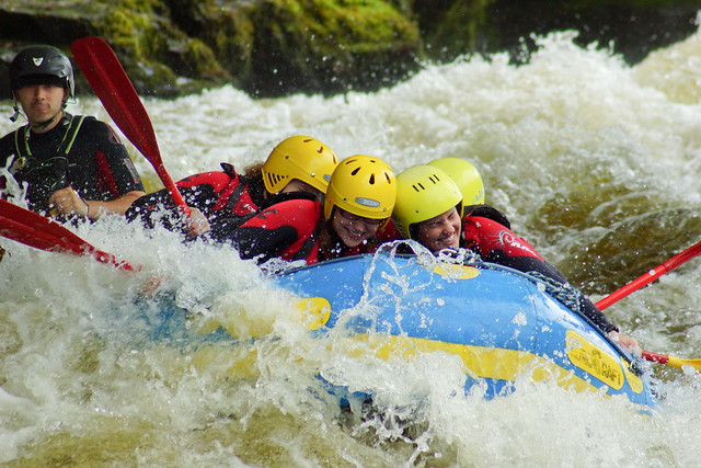 Whitewater Rafting on the River Dee