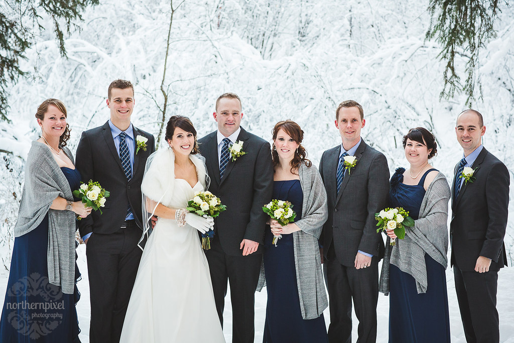 Winter Bridal Party