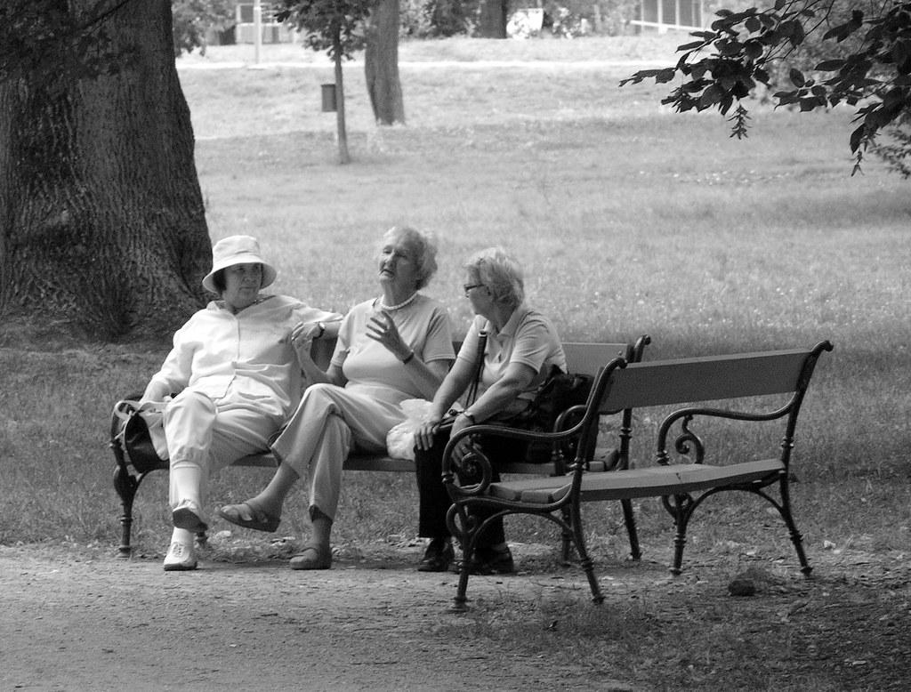 Elderly Ladies in Park
