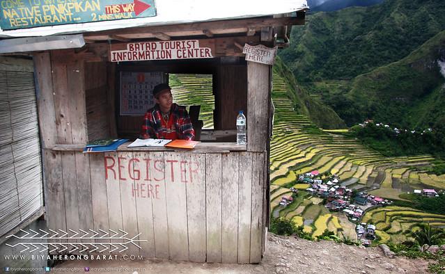 Registration area in Batad