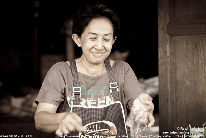 Smiling merchant