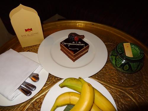 Congratulations chocolate cake at Bab al Shams resort