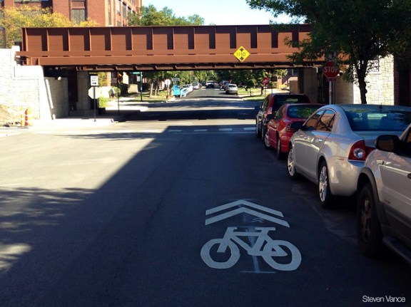 Sharrows placement