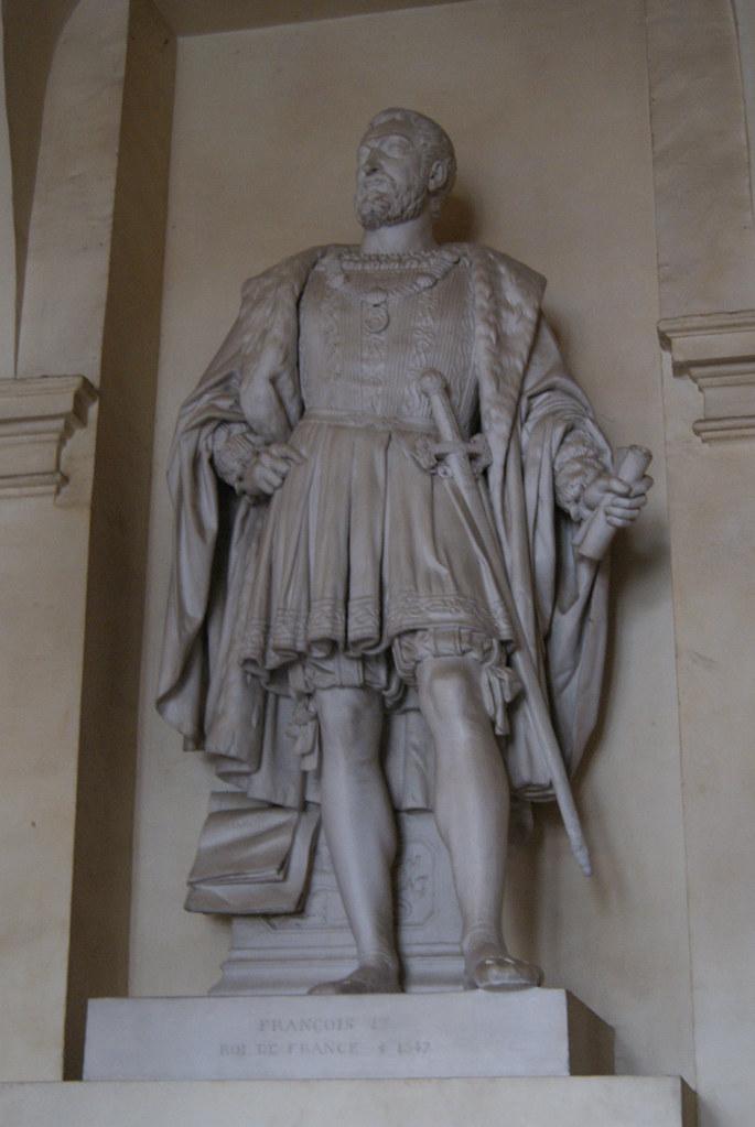 Statue de François Ier, Haute chapelle Saint-Saturnin