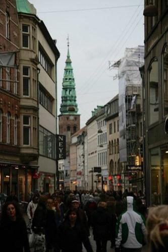 Strøget, Copenhagen's main shopping street, Denmark