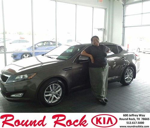 Thank you to Staceia Fletcher on your new 2013 #Kia #Optima from Eric Armendariz and everyone at Round Rock Kia! #NewCarSmell by RoundRockKia