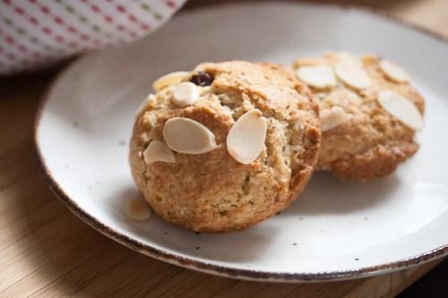 Cherry-Almond Muffin Tops