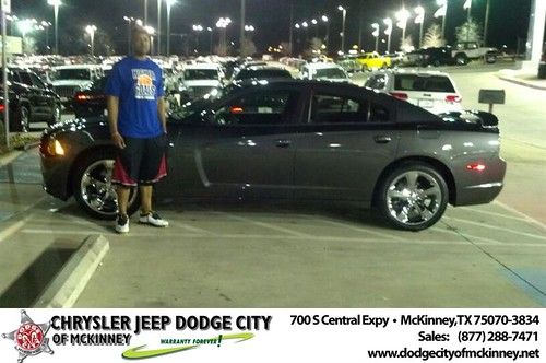 Thank you to Mauryio Buckner on your new 2014 #Dodge #Charger from Bobby Crosby and everyone at Dodge City of McKinney! #NewCar by Dodge City McKinney Texas