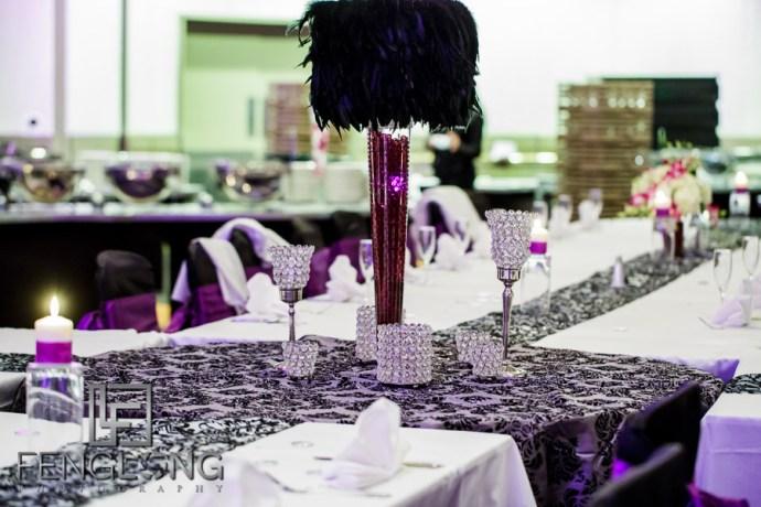 Ismaili Indian wedding reception details at the Hyatt Regency Atlanta