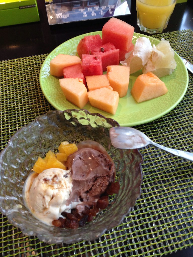 Ice Cream and Fruits for Breakfast