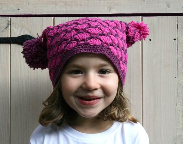 Autumn duo colour hat 9