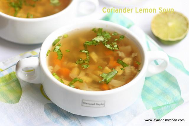 Coriander -lemon-Soup