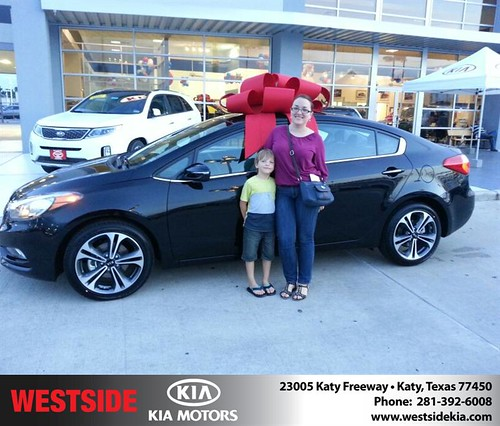 Thank you to Leyla Garayeva on the 2014 Kia Forte from Fabian Murphy and everyone at Westside Kia! by Westside KIA
