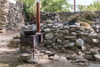 Dit was de keuken van onze homestay, dus we kookten zelf maar een potje op ons camping gasstelletje.