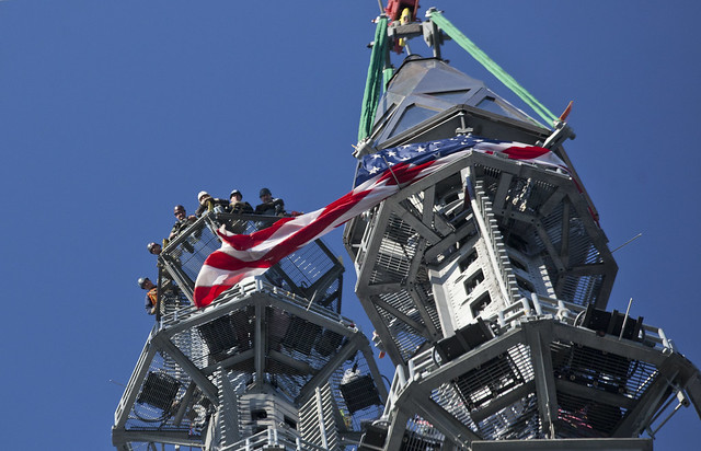 One World Trade Center Spire Hoisted Into Place
