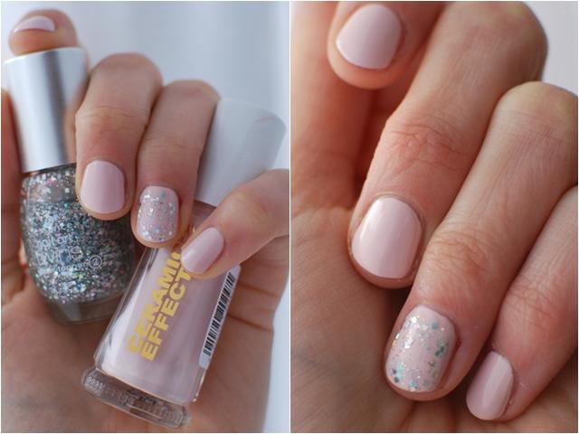 Layla Ceramic Effect CE47   essence nail art twins glitter topper 02 Julia