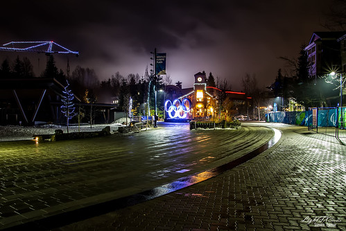 Late at night all alone in the Whistler Village on the first day of our vacation. Check out my website at www.lightfxstudio.com and my blog at lightfxstudio.wordpress.com