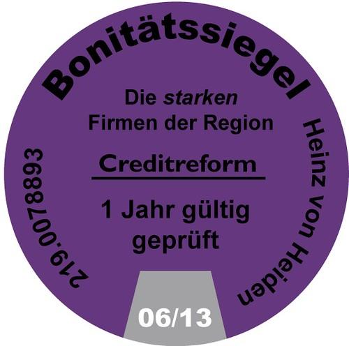 Heinz von Heiden Bonitätssiegel