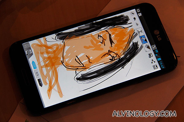 Speed drawing on the LG Optimus G Pro