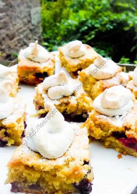Carrés aux myrtilles et pommes / Blueberry and Apple Squares