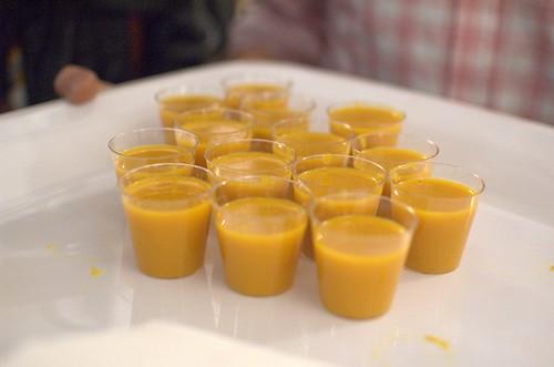 Pumpkin, lemongrass & coconut soup
