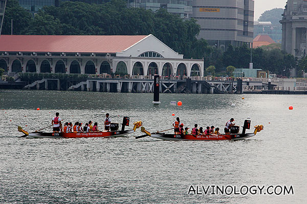 The dragon boating groups