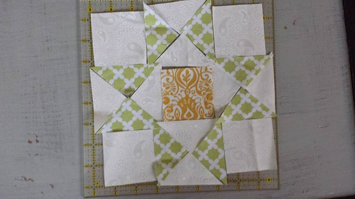 Hand Pieced Ohio Star Cut Out