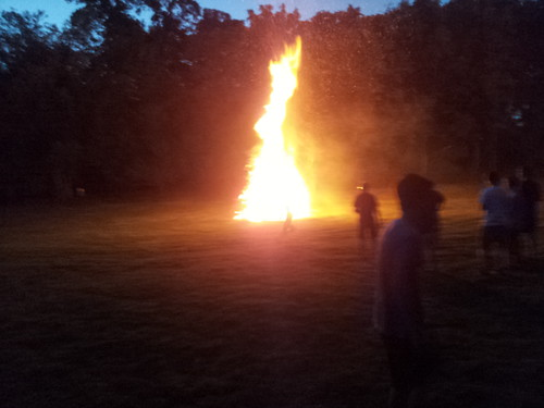 Bonfire at solstice