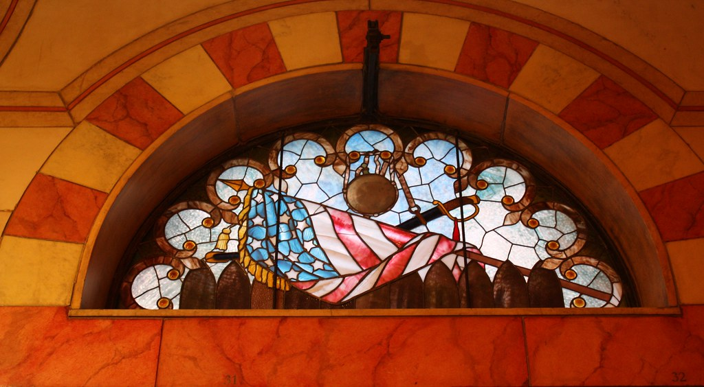 Cleveland Soldier and Sailor Memorial stained glass window