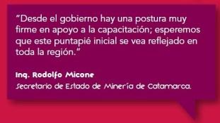 Programa de Estudios Terciarios. Ing. Rodolfo Micone, Secretario de Estado de Minería de Catamarca.