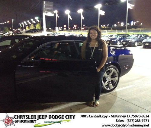 Thank you to Citlali Sanchez on your new 2014 #Dodge #Challenger from Jerry Lawrence and everyone at Dodge City of McKinney! #NewCarSmell by Dodge City McKinney Texas