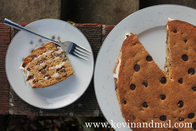 11_15_2013 Chocolate Chip Cookie Cake - 1