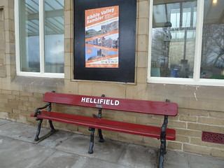 Bench on Hellifield Station
