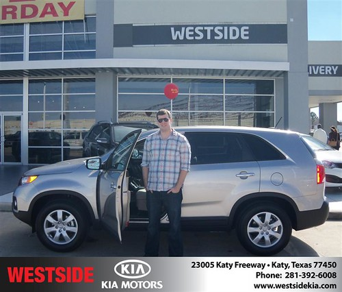 Happy Anniversary to Jason Bringle on your 2013 #Kia #Sorento from Rizkallah Elhallal and everyone at Westside Kia! #Anniversary by Westside KIA