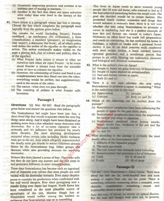 cat previous year question papers pdf with answers download here
