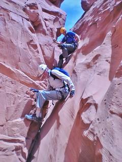 Kim and Dennis Descending Leprechaun Canyon