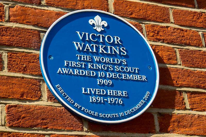 Blue Plaque on side of Bollywood Restaurant