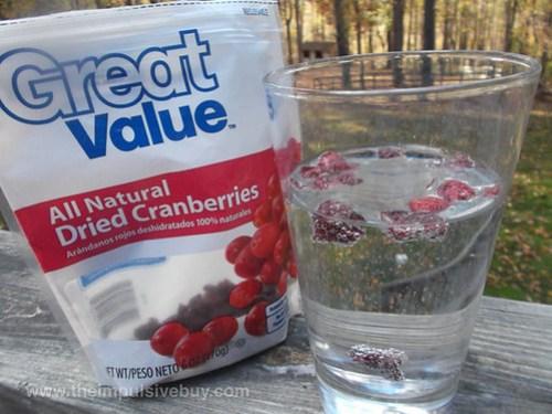 Sprite Zero Cranberry with cranberries
