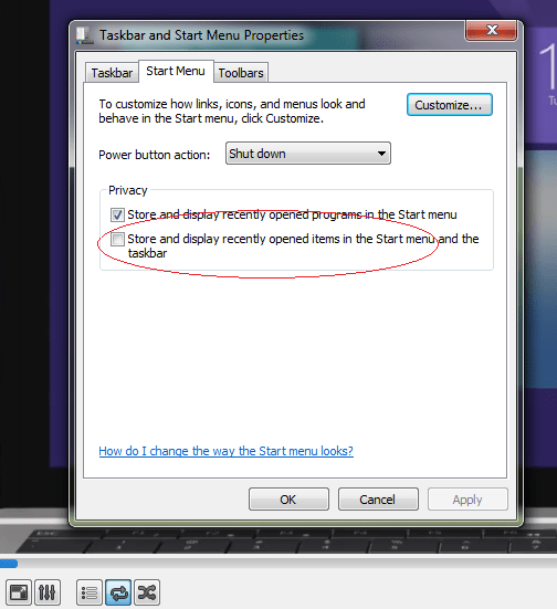 How to permanently disable VLC recent played list on dock /taskbar (4/6)