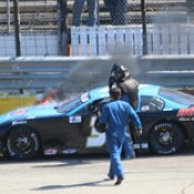 4.23.17 Rockford Speedway Spring Classic - Kyle Shears car started on fire unexpectedly on backstretch