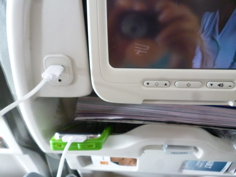 Thank Hermes for USB chargers on planes.